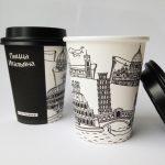 оригинальные кофейные стаканчики оформление