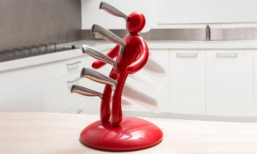 подставка для ножей человечек