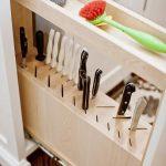 подставки для кухонных ножей оформление идеи