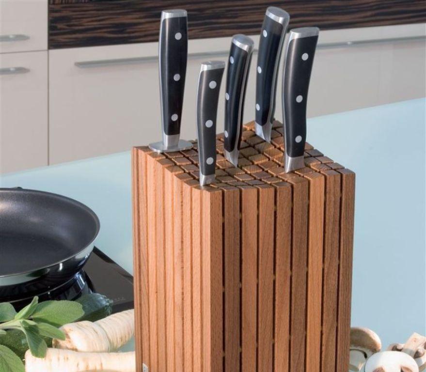 подставка для ножей из дерева
