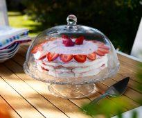 подставка для торта стеклянная