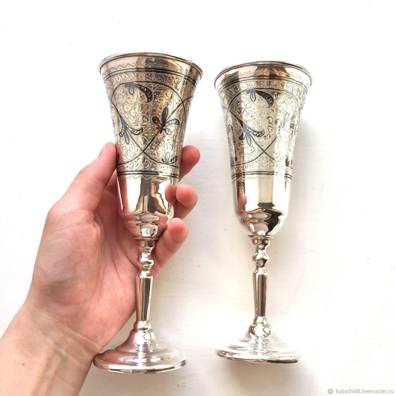 серебряные бокалы кубачи