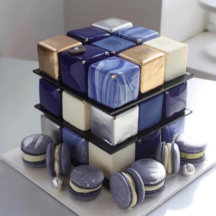 поворотная подставка для торта кубик рубика