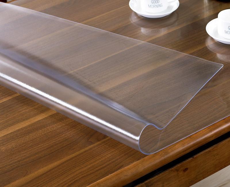 прозрачное покрытие на стол мягкое стекло