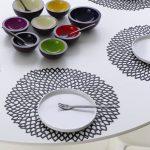 сервировочные салфетки коврики для тарелок виды дизайна