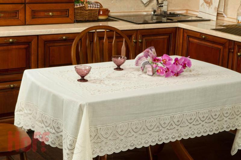 скатерть ажурная на кухонный стол