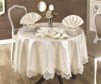 скатерть для круглого стола идеи декора