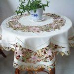 скатерть для круглого стола оформление