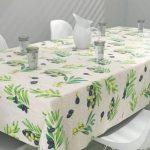 скатерть клеенка на стол для кухни оформление фото