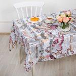 скатерть клеенка на стол для кухни дизайн фото