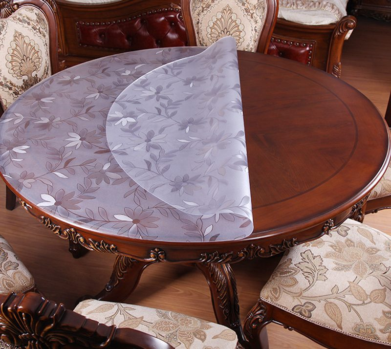 скатерть на круглый стол пвх