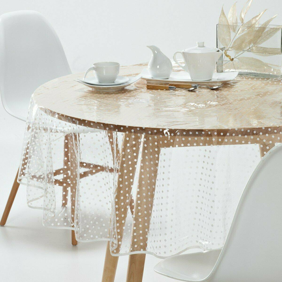 силиконовая скатерть на круглый стол