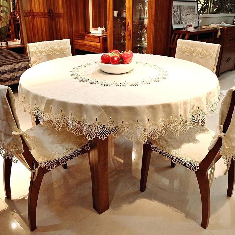 скатерть на круглый стол в интерьере
