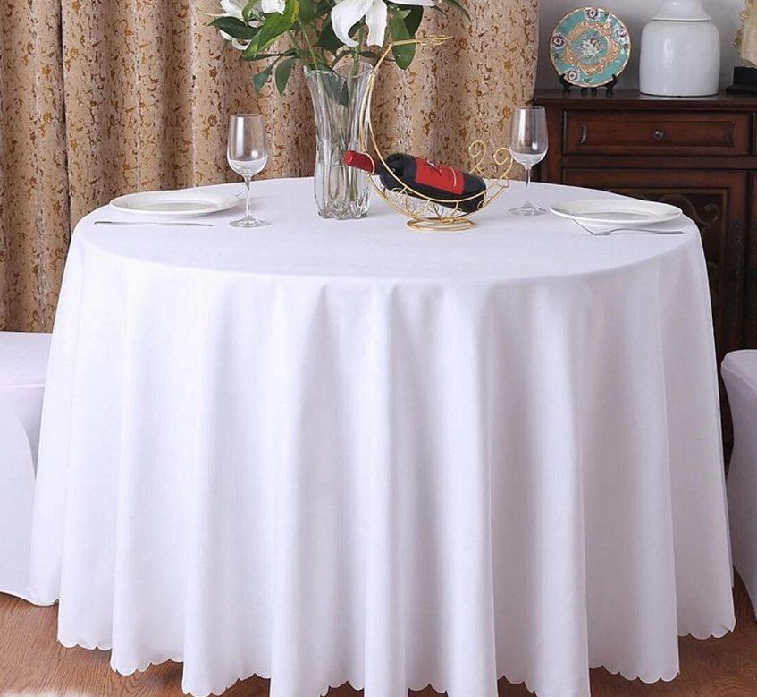 скатерть на круглый стол журавинка