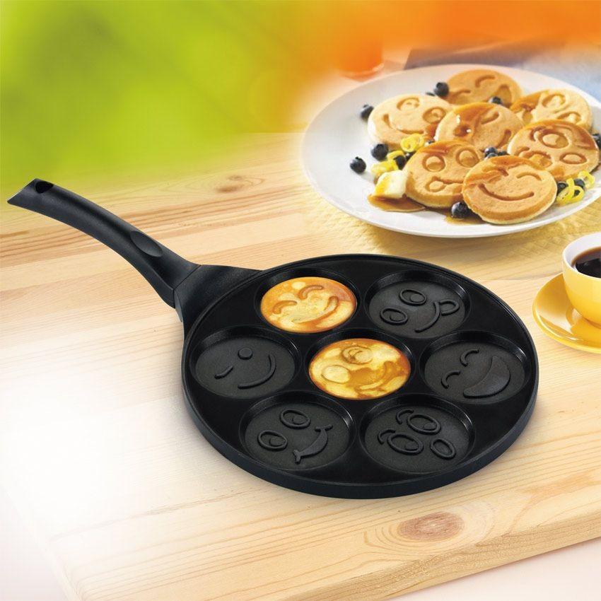 сковорода для блинов и оладий смайлики