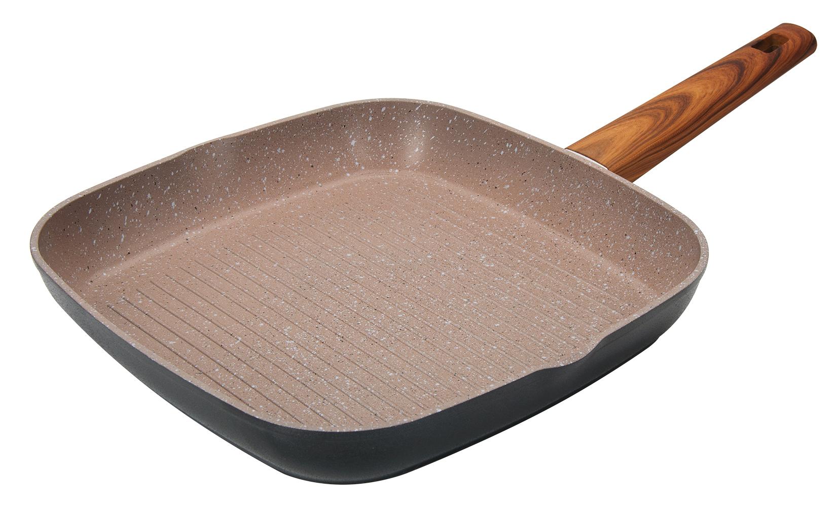 сковорода из литого алюминия с антипригарным покрытием