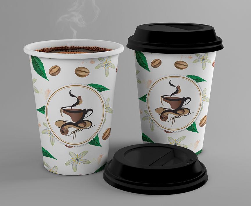 стаканы для кофе с рисунком