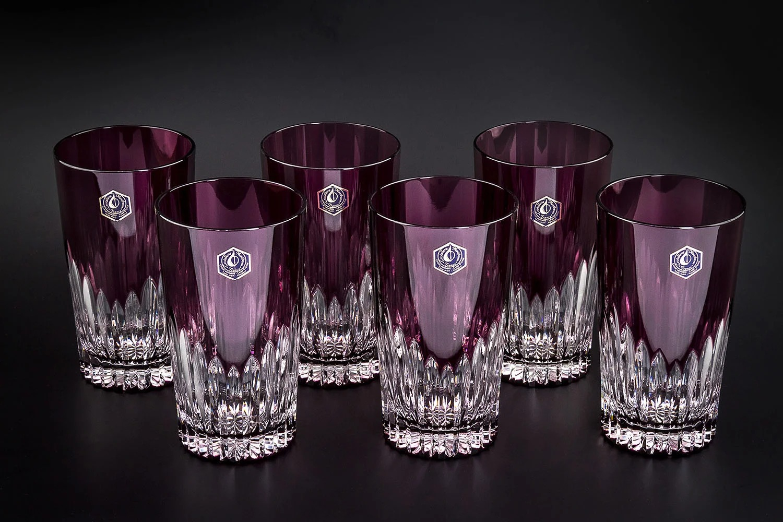 стаканы из цветного хрусталя