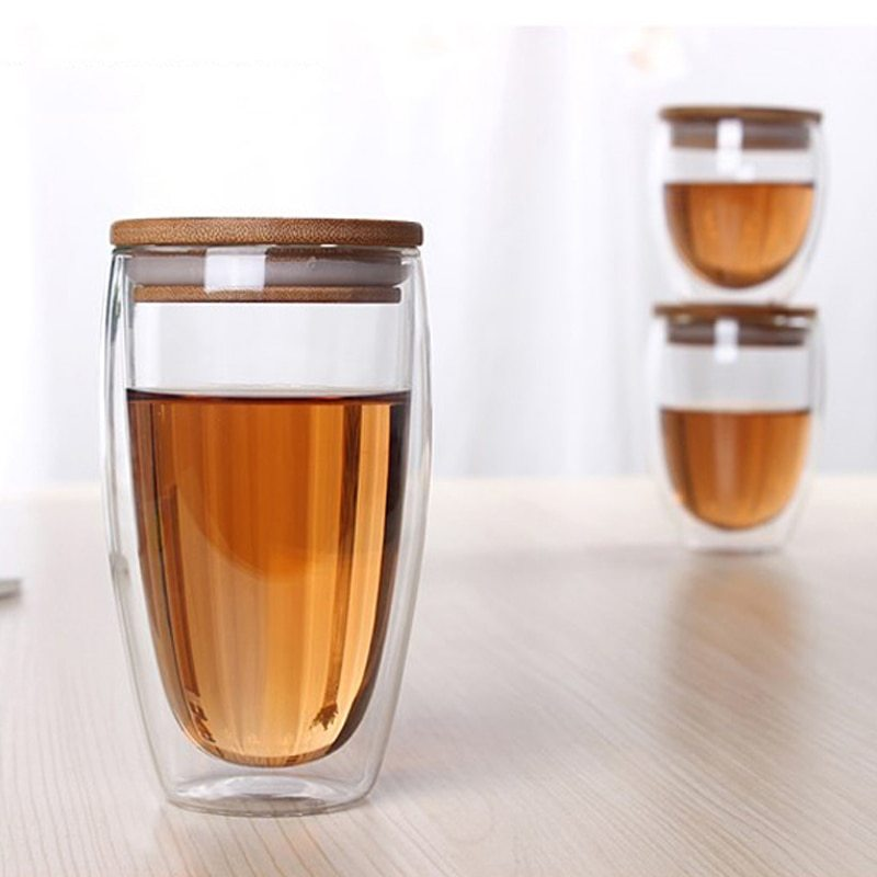 стаканы с двойными стенками и крышкой