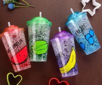 стаканы с крышкой и трубочкой идеи фото