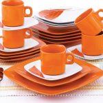 тарелки для сервировки стола оранжевые