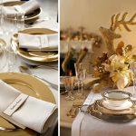 тарелки для сервировки стола золото