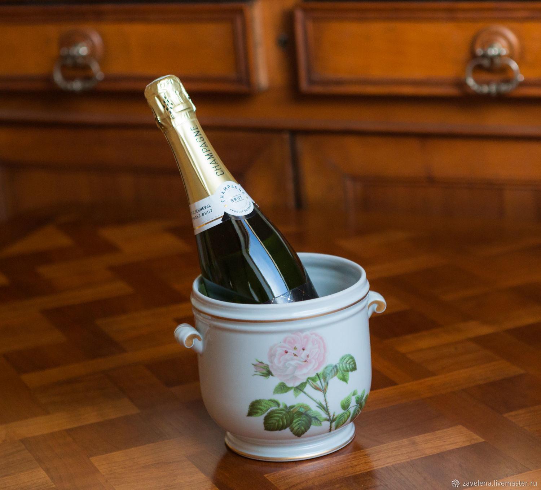фарфоровое ведерко для шампанского