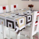 водостойкая скатерть на стол для кухни декор фото