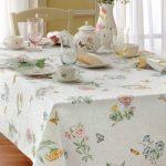 водостойкая скатерть на стол для кухни фото декор