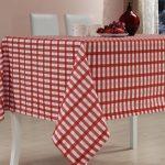 водостойкая скатерть на стол для кухни виды оформления