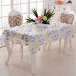 водостойкая скатерть на стол для кухни декор идеи