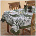 водостойкая скатерть на стол для кухни идеи декор