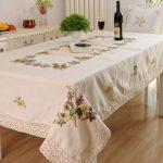 водостойкая скатерть на стол для кухни идеи декора