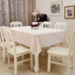 водостойкая скатерть на стол для кухни фото