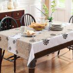 водостойкая скатерть на стол для кухни фото оформления