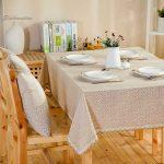 водостойкая скатерть на стол для кухни идеи вариантов