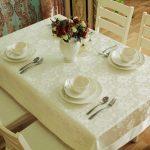 водостойкая скатерть на стол для кухни фото обзоры