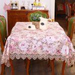 водостойкая скатерть на стол для кухни обзор идеи