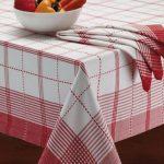 водостойкая скатерть на стол для кухни фото дизайн