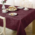 водостойкая скатерть на стол для кухни фото дизайна