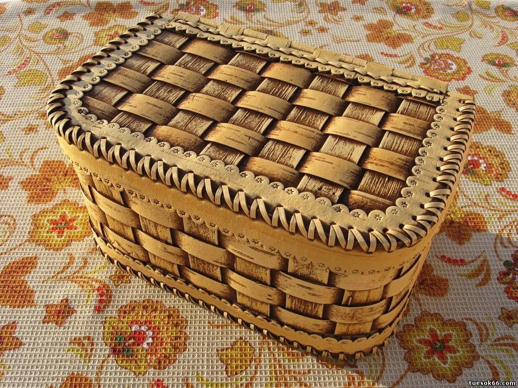 хлебница из бересты оформление