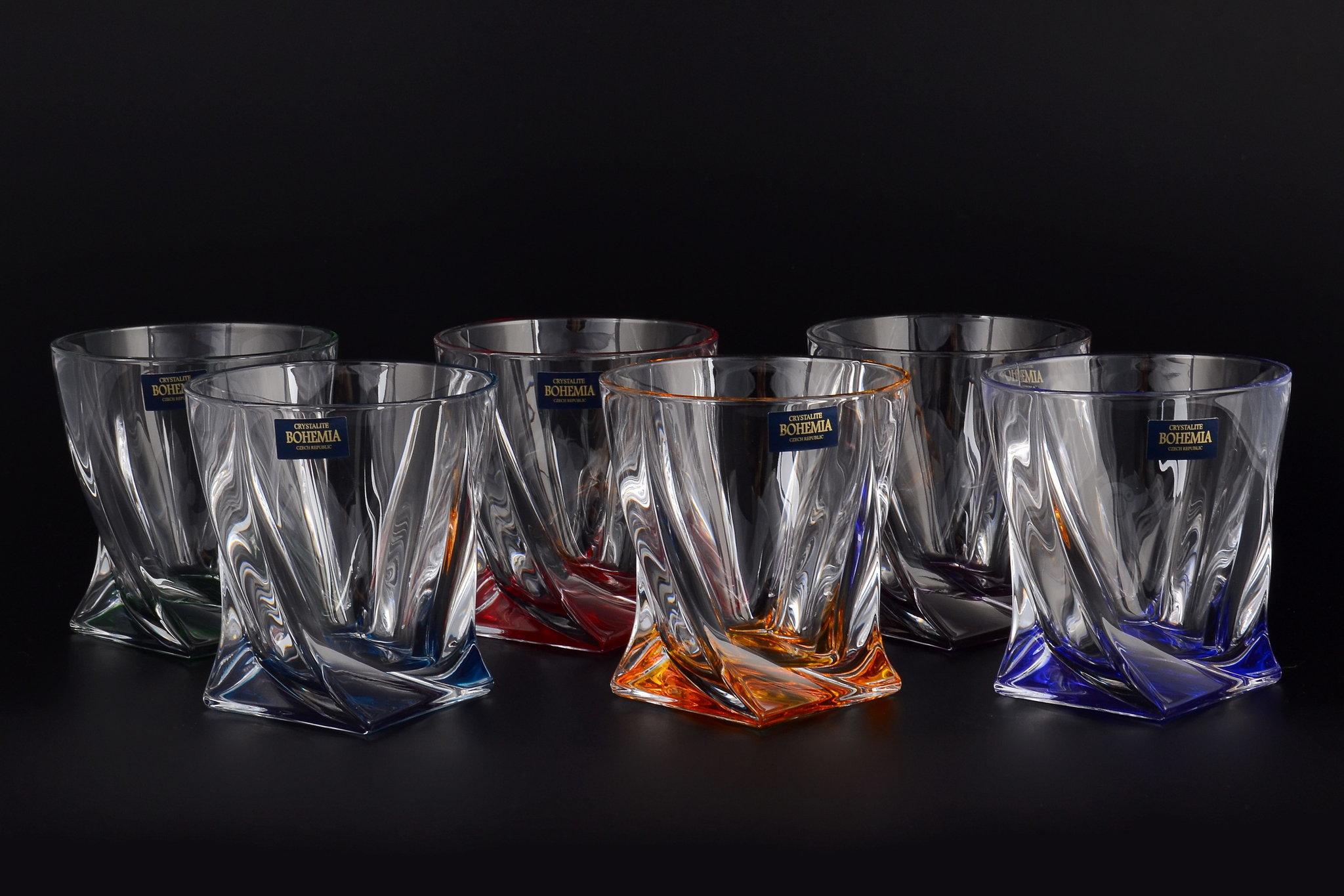 хрустальный набор стаканов для виски
