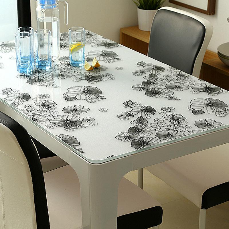 защитная скатерть для стола мягкое стекло