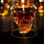 стаканы для виски в форме черепа