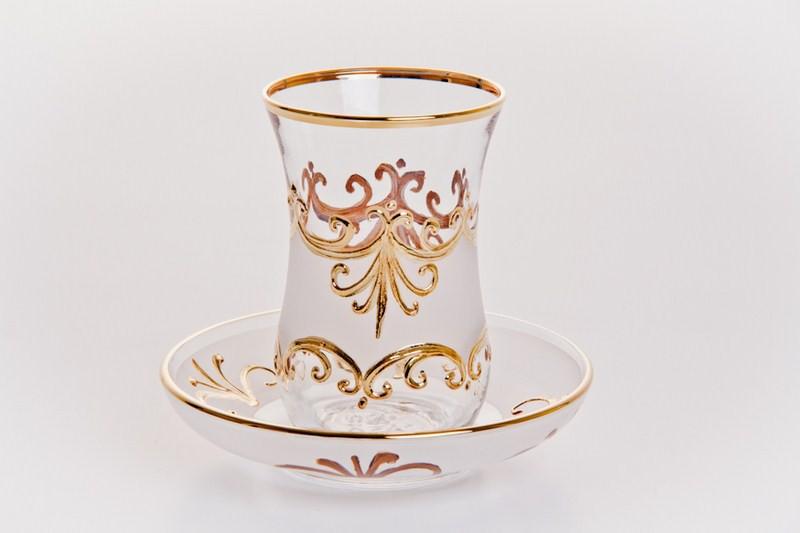 армуд для чая с позолотой
