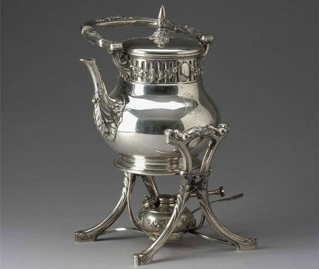 Металлический заварочный чайник