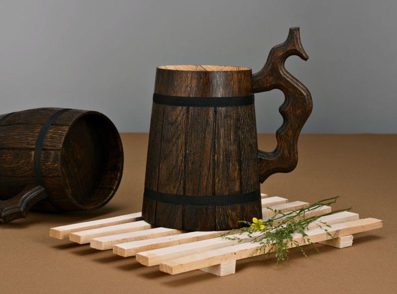 деревянная кружка фото