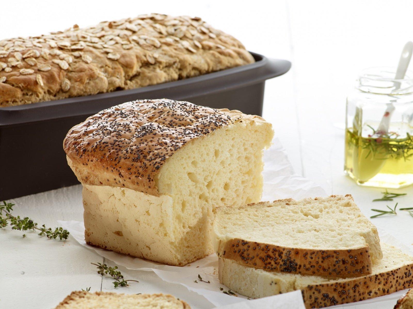 хлеб в силиконовой форме