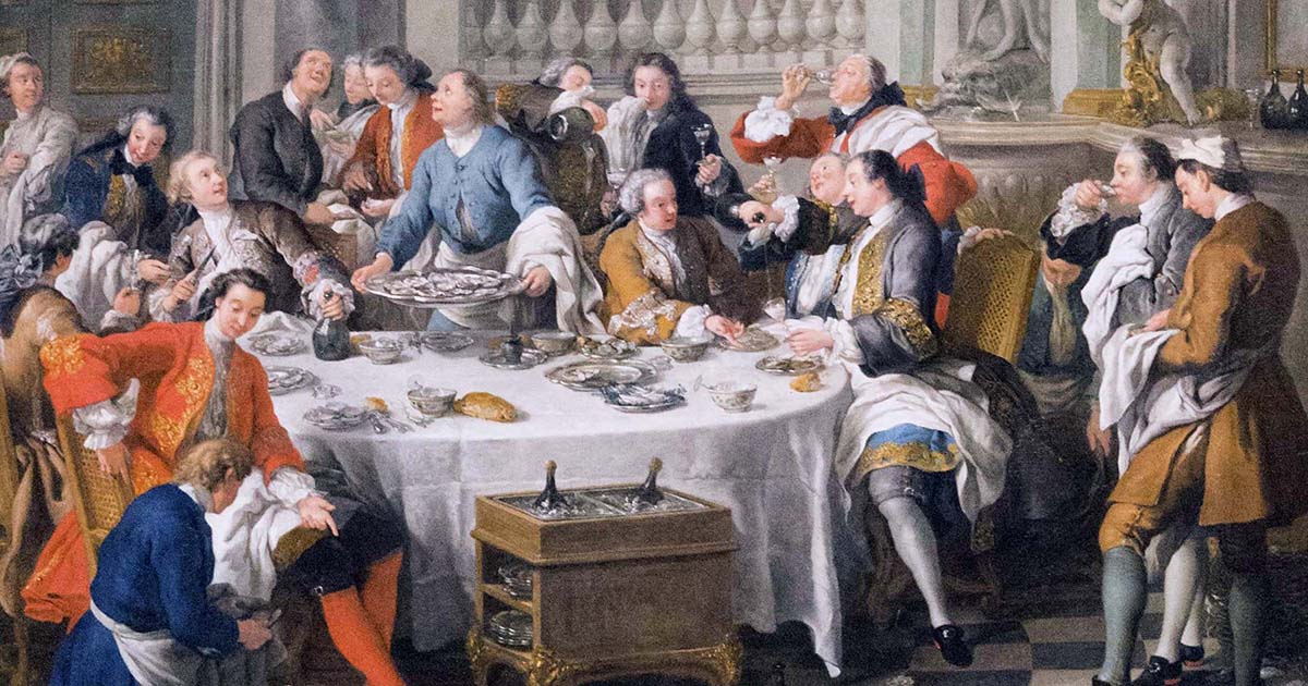 Картина «Обед с устрицами»