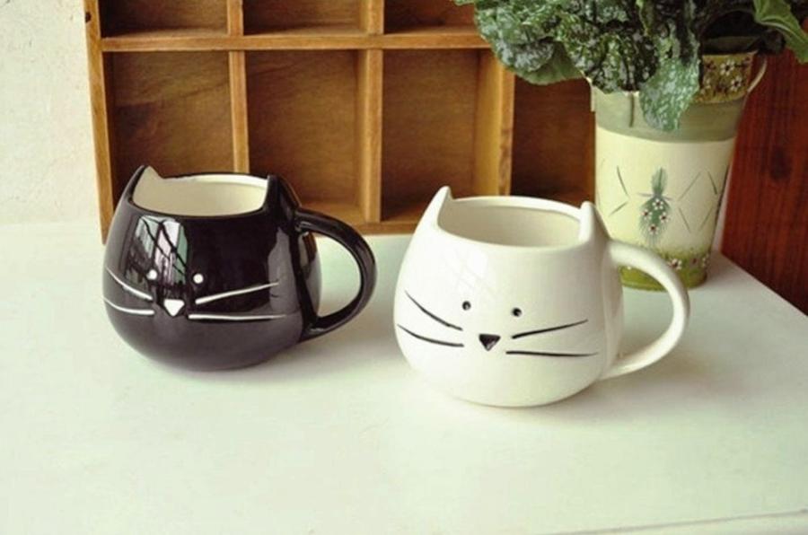 керамические кружки кошки